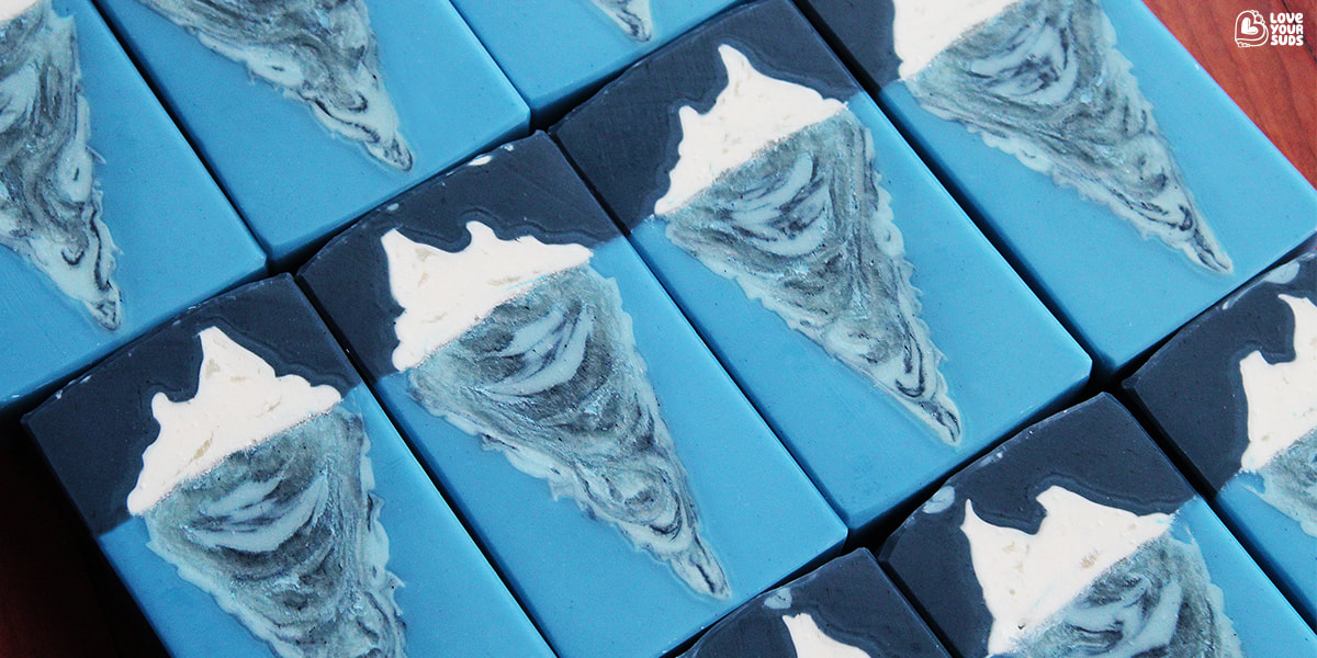 Iceberg small batch soap by Love Your Suds