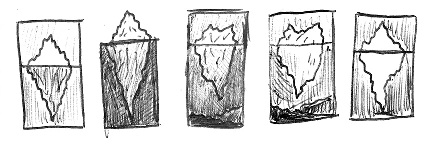 Iceberg soap sketches by Love Your Suds